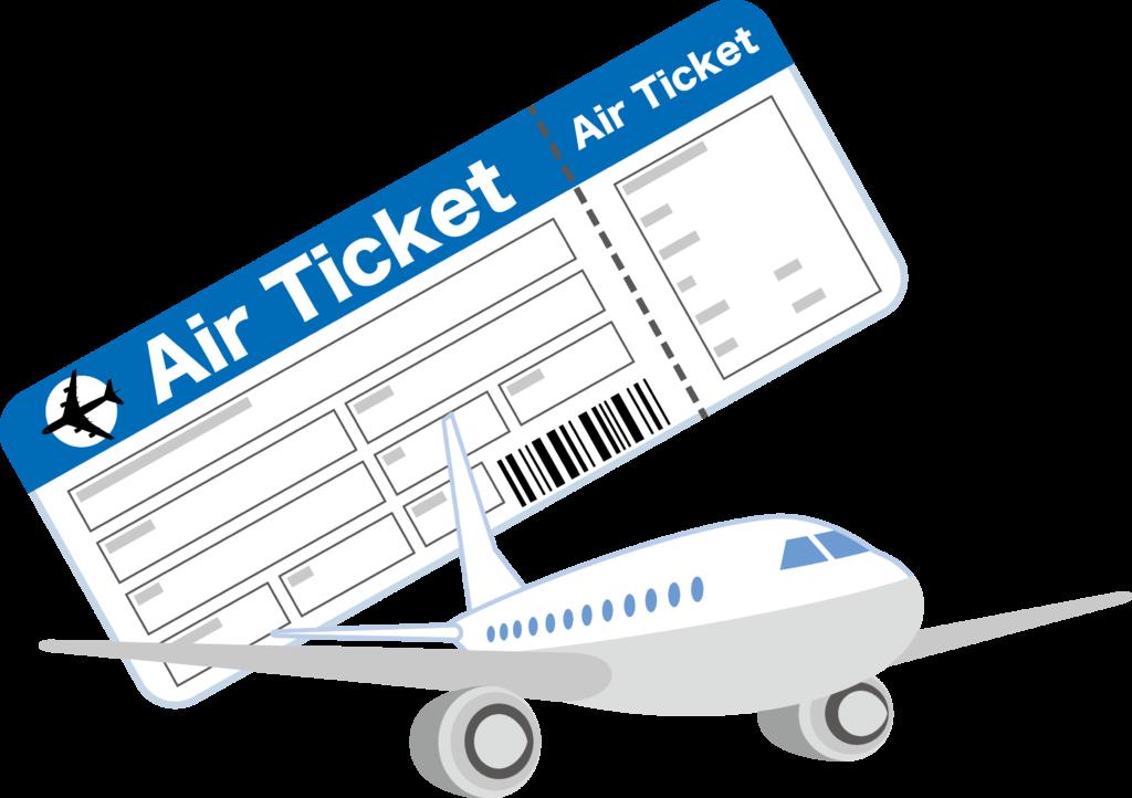 飛行機と航空券
