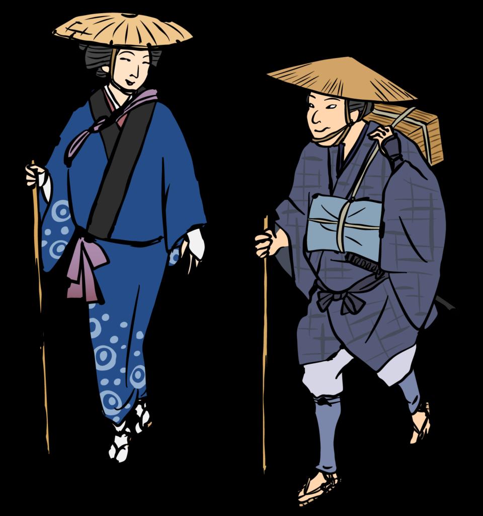 江戸時代の旅人