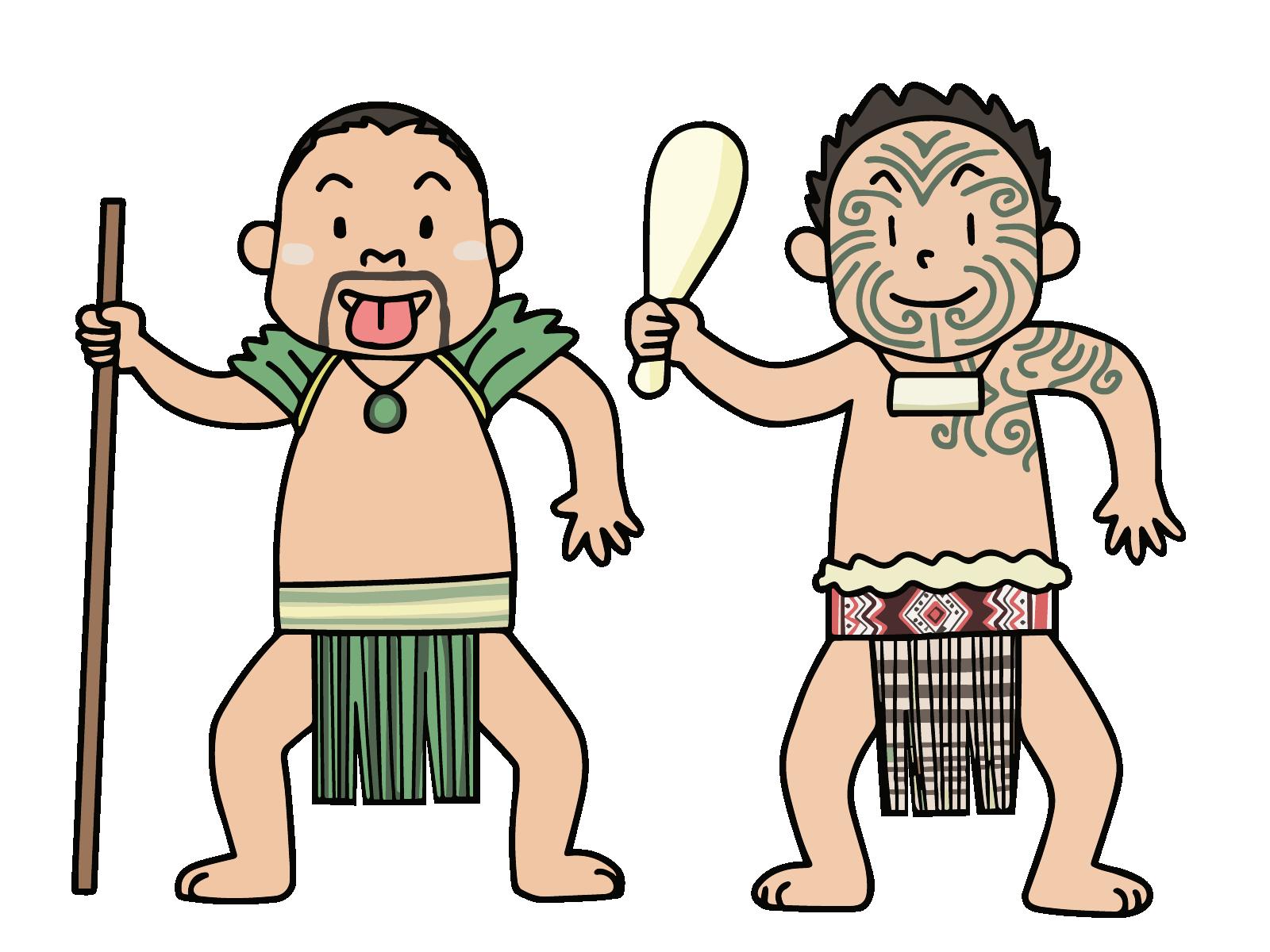 マオリ族の男たち