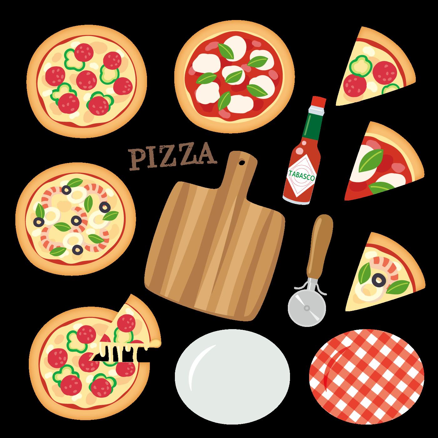 いろいろな種類のピザ